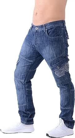 Mens Crosshatch Combat Cargo Jeans