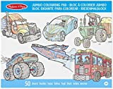 Melissa & Doug Jumbo Colouring Pad: Vehicles - 50 Pages of White Bond Paper (28 x 36 cm)