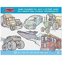 Melissa & Doug - Bloc gigante para colorear vehículos (14205)
