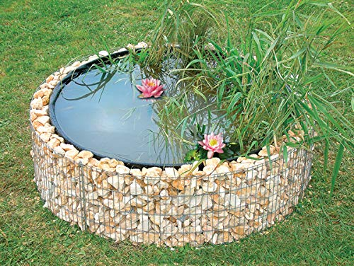 BELLISSA Garden High Pond Gabion 490 Liter Diameter 146 Centimeter