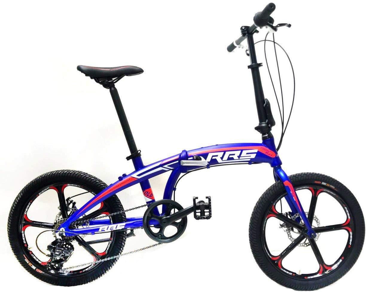 Reset Bicicletta Pieghevole 20 7v Ruote In Lega Broadway Blu Sgmstore