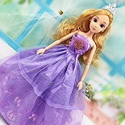 Doll Accessories - Beautiful Handmade Party Clothes Fashion Dress for Barbie Doll - Blue (Size: 29cm)