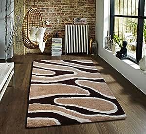 Flooring India Polyester Carpet (Sensuous-Track_Beige, 150 Cms X 230 Cms)