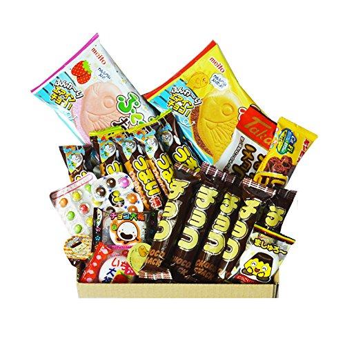 Chocolate Dagashi Caja 20pcs Umaibo Snack con AKIBA KING Etiqueta Caramelos japoneses