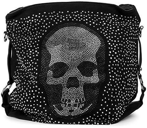 Sac A Main Avec Tete De Mort - StyleBREAKER pochette sac à main avec strass