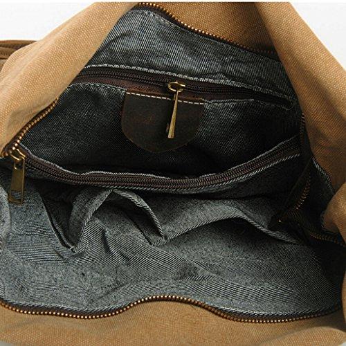 Tiny Chou Vintage Hobo Unisex Leinwand Umhängetasche Messenger Schultertasche Geldbörse, grau (Grau) - 8620js beige