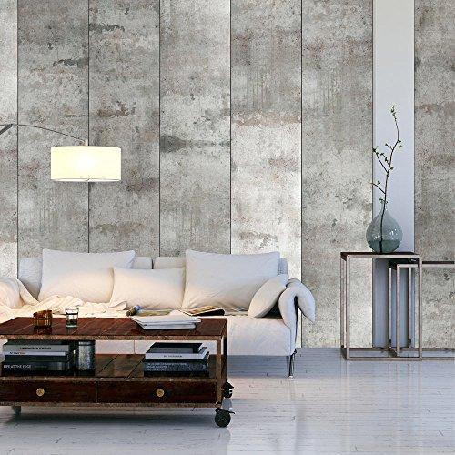 murando - PURO TAPETE - Realistische Betonoptik Tapete ohne Rapport und Versatz - Kein sich wiederholendes Muster - 10m Vlies Tapetenrolle - Wandtapete - modern design - Fototapete - Beton grau f-A-0050-j-a