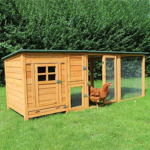 *zoo-xxl Hühnerstall Hühnerhaus Küken Stall Paula mit Freilauf für draußen (Paula mit Extra-Auslauf)*