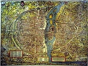 International Publishing Editions Ricordi 5901N32032 - Puzzle de 1500 Piezas del Cuadro Mapa de París de Truschet