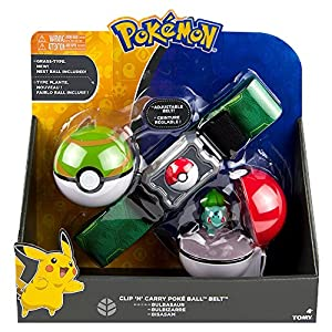 Pokemon t18889d2bulbasaur Clip N Carry Poke Ball Gürtel mit Bulbasaur Figur