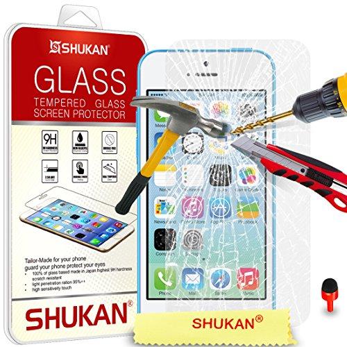 Apple iPhone 5C Pack 1, 2, 3, 5, 10 Protecteur d'écran & Chiffon SVL0 PAR SHUKAN®, (PACK 10) VERRE TREMPÉ