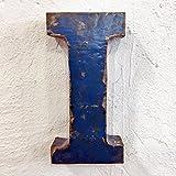 Metallbuchstaben & Zeichen 3D aus Altmetall Vintage Deko-Buchstaben Höhe 31 cm (I)
