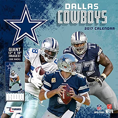 Turner Licensing Sport 2017 Dallas Cowboys Team Wall Calendar, 12