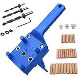 41 Stks Houtbewerking deuvel Jig Kit, 6/8/10 mm Handheld Hout deuvel Boren Gids, Boor Gids Metalen Mouw Hout Boren Doweling G