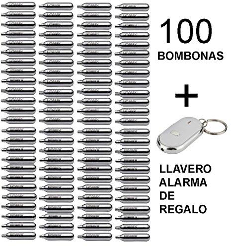 100 bombonas co2 12gr. Umarex para pistolas y carabinas + llavero alarma de regalo