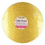 FunCakes Cake Board - runde Kuchenplatte in edlem gold Ø30