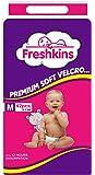 Freshkins Taped Diaper (Medium, White, 42 Unit)