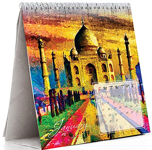 Desk calendar 2017 | 2017 calendar | Table calendar 2017 | Desk calendar | Printelligent Desk Calendar 2017 (Size 8 in x 8 in)  available at amazon for Rs.235