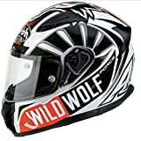 Casco Integrale 'Airoh T600Wild Wolf Taglia L Colore Bianco/Nero e Rosso nove