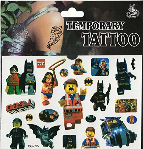 Preisvergleich Produktbild Sheet of Tattoos - Perfect for Party Bags - Frozen, Spiderman and Many More (Lego Movie) by Various