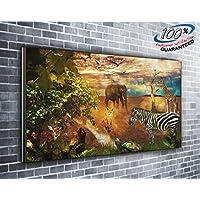 African Wildlife-Stampa su tela immagine panoramica 127,00 cm x (50