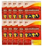 10er Pack Wärmekissen selbstklebende Wärmepflaster Schmerzpflaster Wärmepads Rückenwärmer angenehme Wärme bis zu 8 std