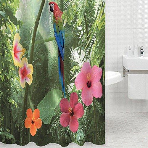 Dusche Vorhang, 3D Papagei Wasserdichte Schimmel Resistent Polyester Dusche Vorhang Liner Für Badezimmerduschen Und Badewannen, 78 X 70 Zoll (Dusche Vorhang Liner 180x70)