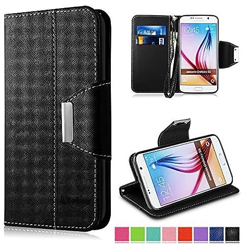 Etui Porte Carte Galaxy S6 - Coque Samsung Galaxy S6, Vakoo Galaxy S6