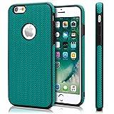 moex Chevron Case für iPhone 6 / 6S | OneFlow Schutzhülle aus Silikon und TPU | Zubehör Cover zum Handy Schutz | Handyhülle Bumper Tasche Textil Optik in Türkis
