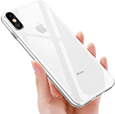 UBEGOOD iPhone XS handyhülle, iPhone X handyhülle, Crystal Hülle iPhone XS Schutzhülle Kratzfeste Soft iPhone X Silikon hülle Ultradünn Cover TPU Bumper Case für iPhone X Case Cover-Transparent