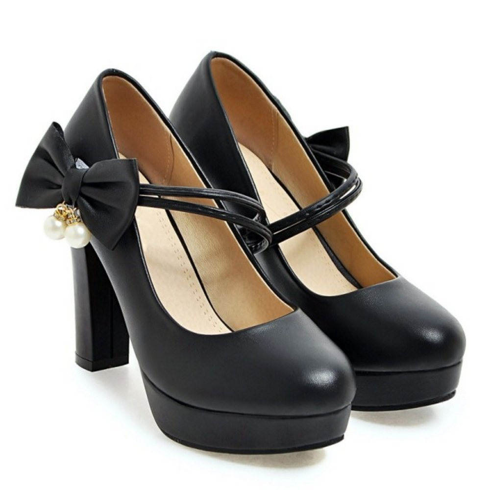 29cf925a3eb8af COOLCEPT Damen Elegant Hoch Blockabsatz Pumps Knochelriemchen Schuhe Bogen   Amazon.de  Schuhe   Handtaschen