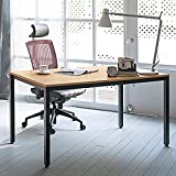 Need Computer Desks 140x60cm Workstation Home Office Desk Board-room Conference Table Sturdy Wooden Desk Large Size, Teak Color