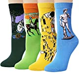 Garsumiss Damen Socken Baumwolle Thermal komfortable Mädchen Socken Malerei Cartoon Süße Lustige Nette Lässige Frauen Socken EU 35-41
