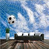 LHDLily 3D Tapete 3D Wallpaper Fresken Wandbilder Verdicken Benutzerdefinierte Sport Fußball Aufkleber Wand Aufkleber Wohnzimmer Tv Hintergrund Larges 200Cmx150Cm