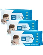 Mee Mee Caring Baby Wet Wipes with Lemon Fragrance (72 pcs) (Pack of 3)
