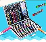 Whyyudan Gemälde liefert Werkzeuge 120 Stücke Premium Kinder Pinsel Set Malerei Aquarell Striche Werkzeuge Schreibwaren für Kinder Geburtstagsgeschenk (Rosa Fall)