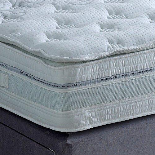 The Luxury Bed Co. 2000Pocket Latex Pillowtop Mattress- luxuriös und guestroom und Hotel-bequem und atmungsaktiv, für Schlafzimmer, King Size -