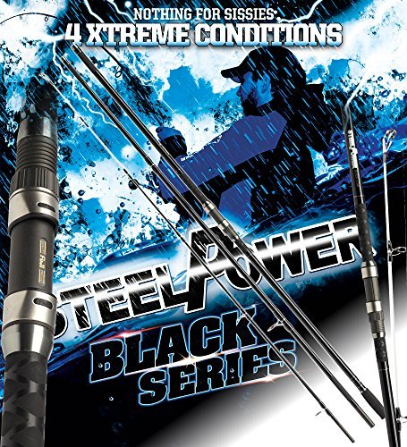 2 Stk. DAM Steelpower BLACK Surf, 4.50m, up to 250g - Surfcasting Rute (Doppelpack)