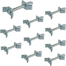 10 Sück - Möbelverbinder Arbeitsplattenverbinder Verbindungsschraube 65 mm Massiv-Holzverbinder aus Stahl | Möbel-Verbinder mit M6 Gewinde | Bohrmaß: 32-41 mm | Möbelbeschläge von GedoTec®