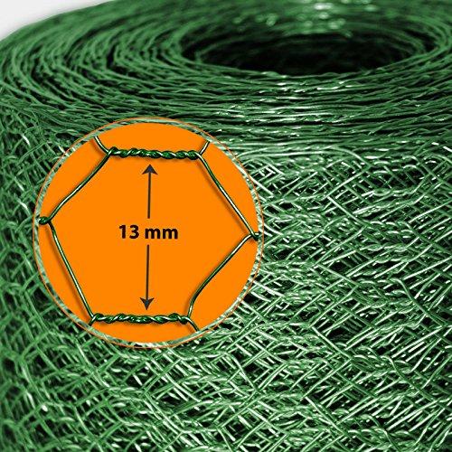 Grillage pour jardin casa pura® clôture vert | tailles au choix | diamètre de maille 13mm | résistant aux intempéries | bricolage, 50cmx25m