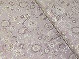 Minerva Crafts Brokatstoff, Blumenmuster, metallisch,