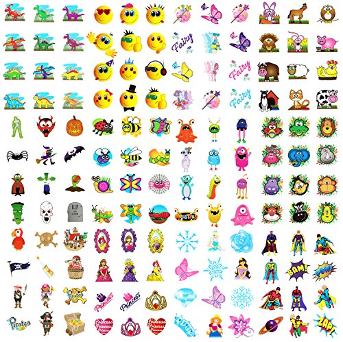 144-kids-party-bag-fun-novelty-temporary-transfer-tattoos-1-pack-of-each-theme