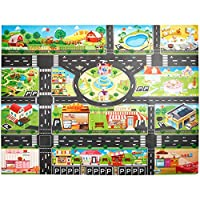 Festiday-Toy 1PC Car Map Sale Kids Toy (cars are not included), Kids Play Mat City Road Buildings Parking Map Game Gift Education Toy for Boys Girls for 3 4 5 6 + Years Old toys