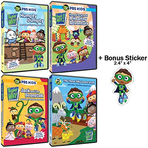 Super Why!: TV Series - The Fairytale Collection - Episodes + Interactive Games, Music Videos, Printable Coloring Pages, & More! + Bonus Sticker