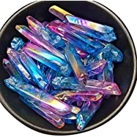 Jannyshop Fluorit Kristall Zauberstab Natürlichen Fluorit Elektroplatte, die natürliche Kristallenergiesäule locht preisvergleich bei billige-tabletten.eu