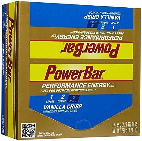 PowerBar Performance Vanilla Crisp, Box of 12 by Powerbar (Powerbar Vanille Crisp)