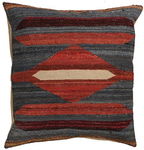 Vente, faite à la main authentique Kilim Housse de coussin Taie d'oreiller style vintage, 58 cm x 58 cm/55,9 cm/55,9 cm (1357) Liquidation de stock