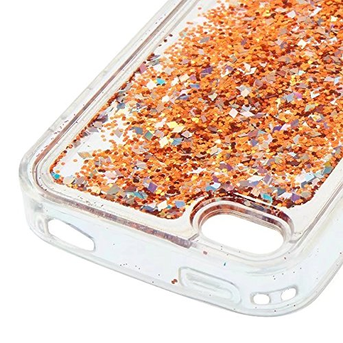 Coque iPhone 7, flottant Liquidee flottant de luxe Bling Glitter Sparkle Case Cover pour iPhone 7 4.7inch 4# 4G