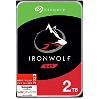 Seagate IronWolf, NAS interne Festplatte 2 TB HDD, 3,5 Zoll, 5900 U/Min, CMR, 64 MB Cache, SATA 6 GB/s, silber, FFP…