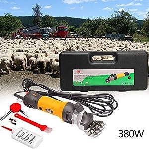 [Gesponsert]Iglobalbuy 380W elektrische Schafscheremachine Schafschere Set für Schafe Fellpflege